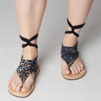 Чорап за сандали с връзки 7 (снимка)